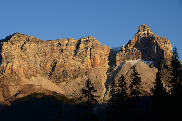 Cathedral Mountain is one of Yoho's most recognized peaks