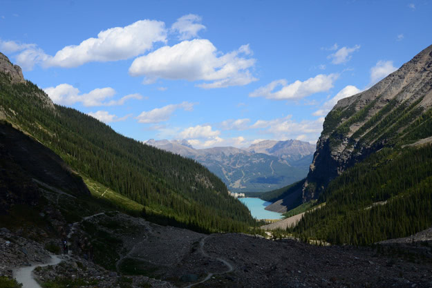 View of Lake Louise from high above