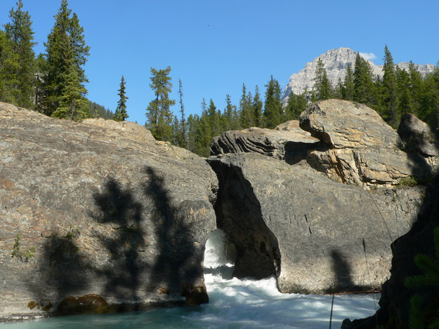 Natural Bridge on the Kicking Horse River