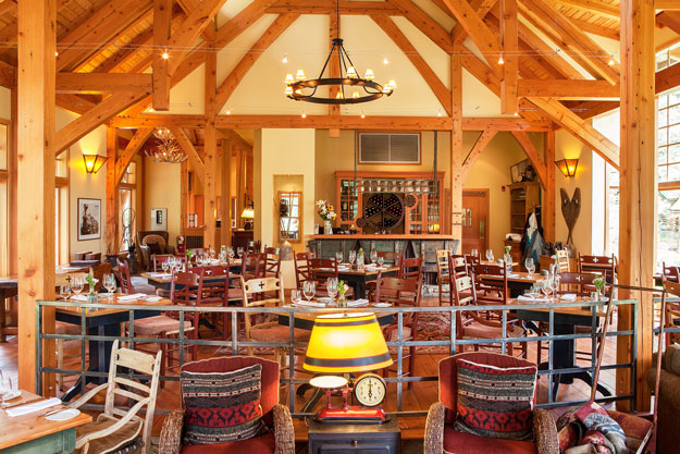 Riverside Dining Room at Cathedral Mountain Lodge