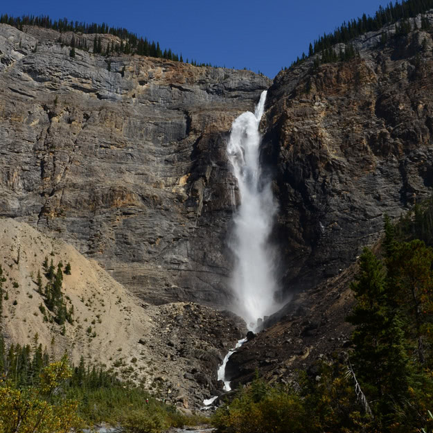 At 381m, Takakkaw Falls is one of Canada's highest.